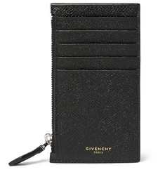 Givenchy Zipped Cross-Grain Leather Card Holder