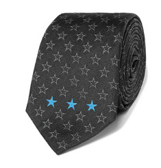 Givenchy Star-Patterned Silk-Jacquard Tie