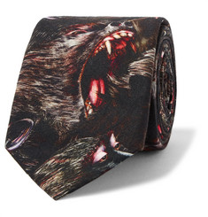 Givenchy Monkey Brothers Printed Cotton Tie