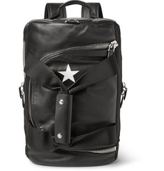 Givenchy - Webbing-Trimmed Leather Backpack