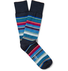 Paul Smith - Striped Stretch Cotton-Blend Socks