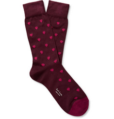 Paul Smith Heart-Jacquard Cotton-Blend Socks