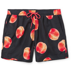 Paul Smith Mid-Length Peach-Print Swim Shorts