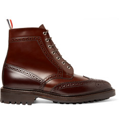 Thom Browne Two-Tone Leather Brogue Boots