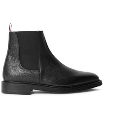 Thom Browne Pebble-Grain Leather Chelsea Boots