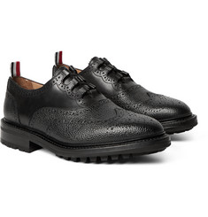 Thom Browne - Pebble-Grain Leather Ghillie Brogues