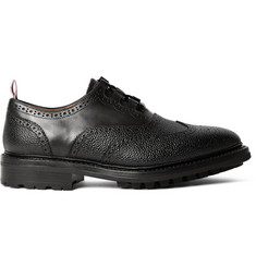 Thom Browne Pebble-Grain Leather Ghillie Brogues