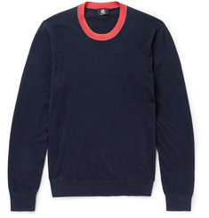 PS by Paul Smith Contrast-Trimmed Cotton-Blend Sweater