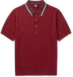 PS by Paul Smith Slim-Fit Contrast-Tipped Knitted Stretch Cotton-Blend Polo Shirt