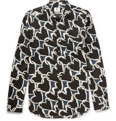 PS by Paul Smith Heart-Print Voile Shirt