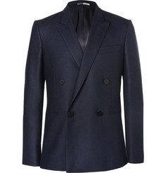 PS by Paul Smith Navy Double-Breasted Wool Blazer