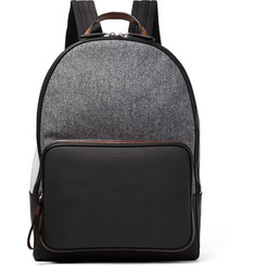 Berluti - Time Off Rubberised-Leather and Flannel Backpack