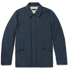 Loro Piana Leather-Trimmed Quilted Storm System® Shell Jacket