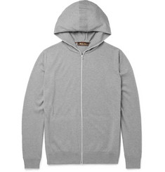 Loro Piana - Cotton and Cashmere-Blend Zip-Up Hoodie