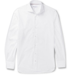 Loro Piana Albert Slim-Fit Cutaway-Collar Cotton Shirt