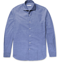 Loro Piana Alain Slim-Fit End-On-End Cotton and Cashmere-Blend Shirt