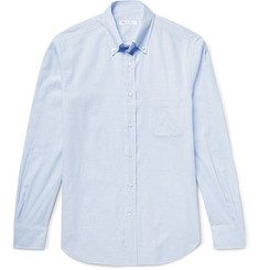Loro Piana Alfred Button-Down Collar Checked Brushed-Cotton Shirt
