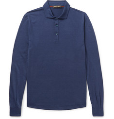 Loro Piana - Silk and Cotton-Blend Polo Shirt