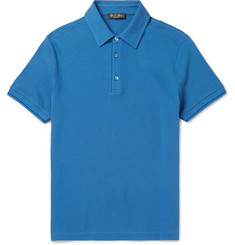 Loro Piana Slim-Fit Stretch-Cotton Piqué Polo Shirt