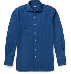TOM FORD Slim-Fit Cutaway-Collar Cotton Shirt