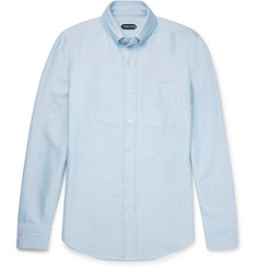 TOM FORD - Slim-Fit Button-Down Collar Washed Cotton-Oxford Shirt