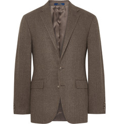 Polo Ralph Lauren Brown Herringbone Wool Blazer