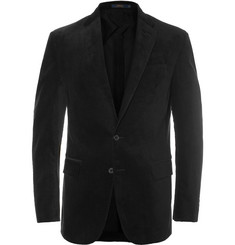 Polo Ralph Lauren Black Slim-Fit Stretch-Cotton Corduroy Suit Jacket