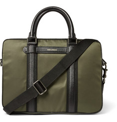 Dolce & Gabbana Leather-Trimmed Twill Briefcase