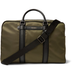 Dolce & Gabbana Mediterraneo Leather-Trimmed Canvas Holdall