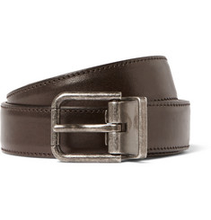 Dolce & Gabbana 2.5cm Brown Leather Belt