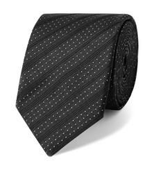 Dolce & Gabbana 6cm Striped and Polka-Dot Silk-Jacquard Tie