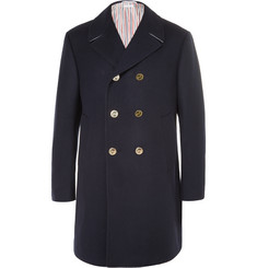 Thom Browne Double-Breasted Melton Wool Peacoat