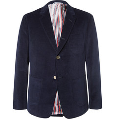 Thom Browne Navy Sack Cotton-Corduroy Blazer