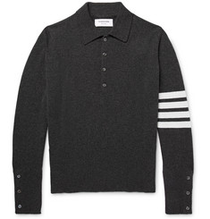 Thom Browne - Striped Cashmere Polo Shirt