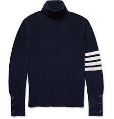 Thom Browne Striped Cashmere Rollneck Sweater