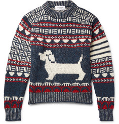Thom Browne Hector Intarsia Wool and Mohair-Blend Sweater