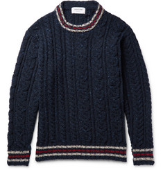 Thom Browne Fun Mix Cable-Knit Wool Sweater