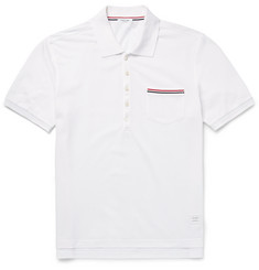 Thom Browne Slim-Fit Cotton-Piqué Polo Shirt