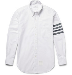 Thom Browne Slim-Fit Striped Cotton Oxford Shirt