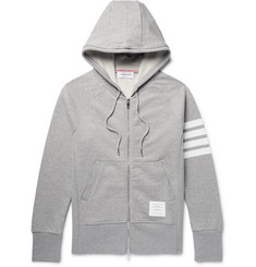 Thom Browne - Striped Loopback Cotton-Jersey Zip-Up Hoodie