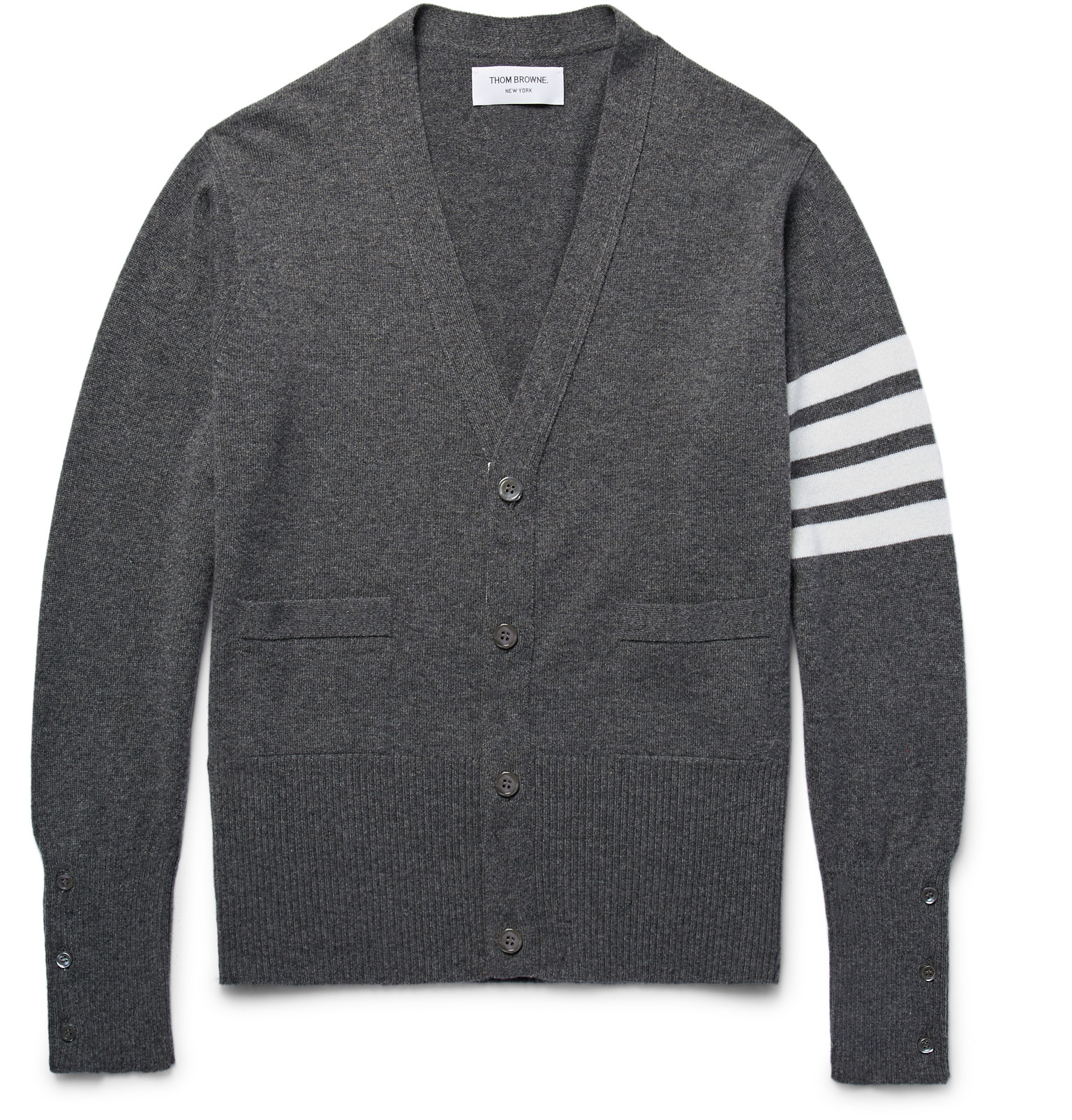 Thom Browne - Slim-Fit Striped Cashmere Cardigan