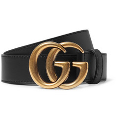 Gucci 3cm Black Leather Belt