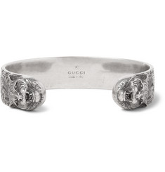 Gucci Lion Burnished Silver Cuff