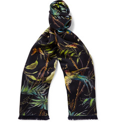 Gucci Tropical-Print Silk Scarf