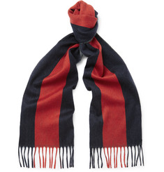 Gucci Striped Wool-Felt Scarf