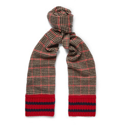 Gucci Houndstooth Wool and Cashmere-Blend Scarf