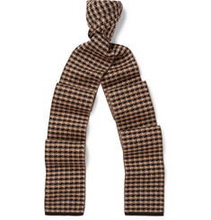 Gucci Houndstooth Wool Scarf