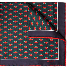 Gucci Patterned Silk Pocket Square