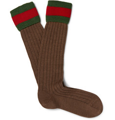 Gucci Striped Stretch Wool-Blend Socks