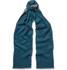 Loro Piana Cavalry Two-Tone Cashmere and Silk-Blend Scarf